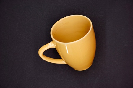 A studio close up of a coffee cup