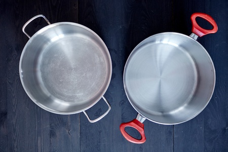 A studio photo of pots and pans Stock Photo
