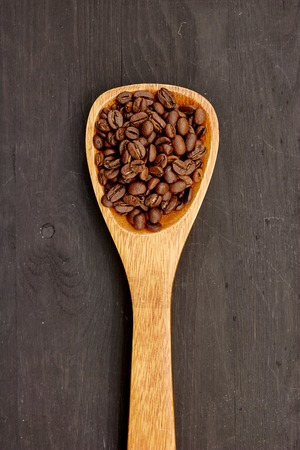 A close up studio photo of roasted coffee beans Stock Photo