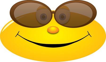 cool smiley with sunglasses photo