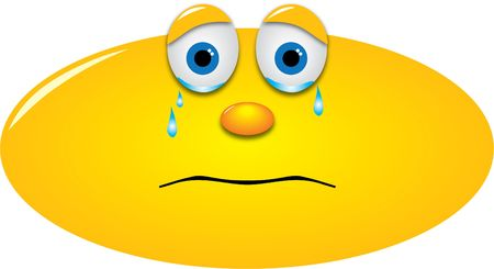 crying smiley with tears in the eyes Stock Photo - 9823872