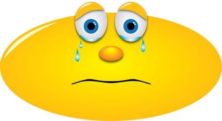 lamentation: piangendo smiley con le lacrime agli occhi