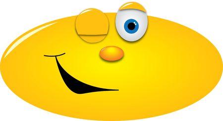 winking: smiley occhiolino con un occhio Archivio Fotografico