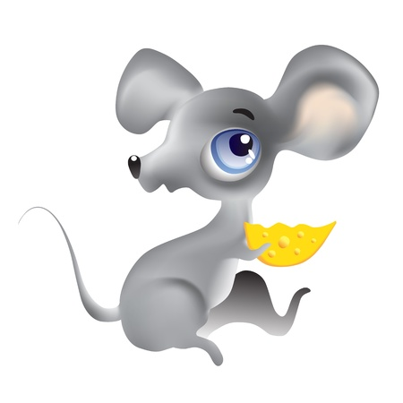 Mouse. Vector illustration. Isolated on white background. Vector