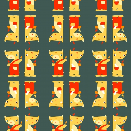 Teddy Bears  Funny bright seamless pattern on dark background  Seamless pattern can be used for wallpaper, pattern fills, web page background, surface textures Stock Vector - 20305663