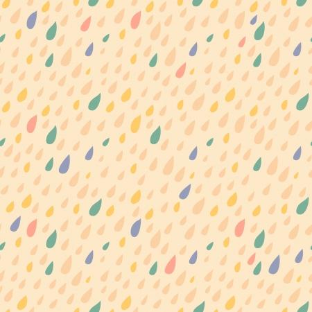 Drops seamless pattern on light background Illustration