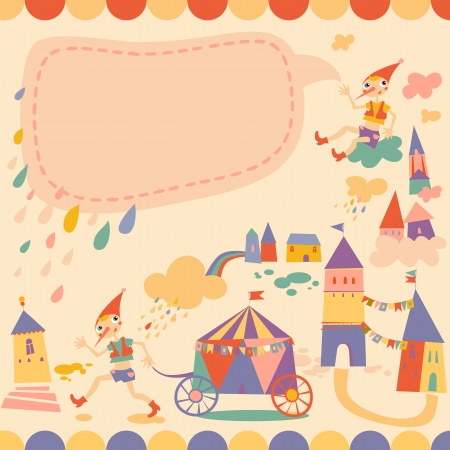 Childrens background with place for text Vector
