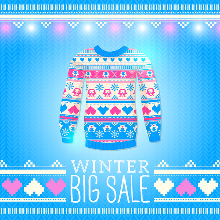 Sweater Sale Winter Illustration Vector