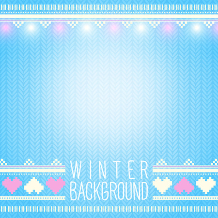 Seamless knitted winter background with holiday elements Vector