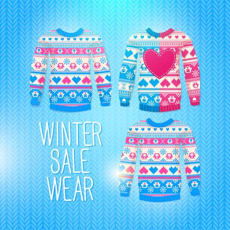 Sweater. Sale Winter Illustration