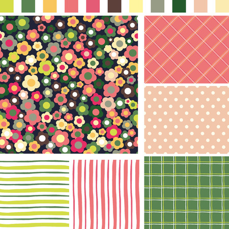 Floral Seamless background.   Vector