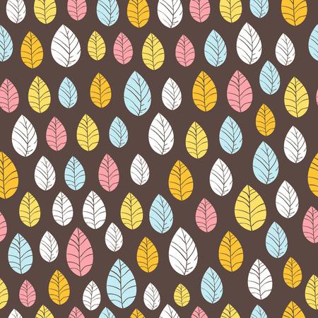 hojas parra: Deja el fondo transparente en la ilustración oscura Dibujado a mano vector Patrón transparente se puede utilizar para el papel pintado, patrones de relleno, de fondo página web texturas de la superficie