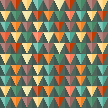 Abstract Triangle Geometrical seamless background. Vintage color. Seamless pattern can be used for wallpaper, pattern fills, web page background, surface textures Vector