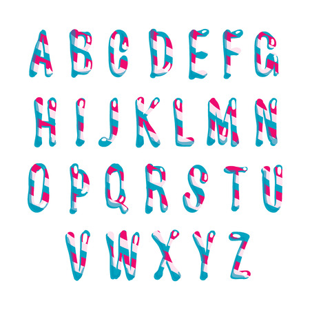 Candy alphabet.  Vector