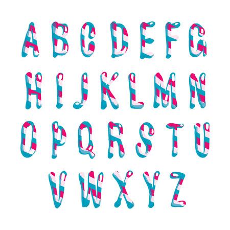 Candy alphabet.  Vector