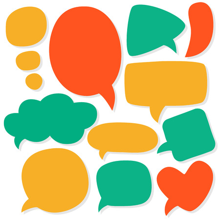 Cartoon speech bubbles. Different sizes and forms. Vector illustration. Vector