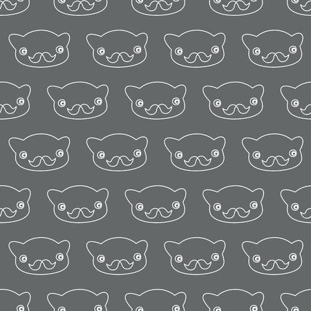 Bear-hipster. Black-white. Vector illustration Vector