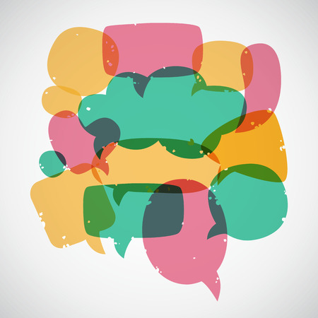 Retro style speech bubbles. Different sizes and forms. Vector illustration. Vector
