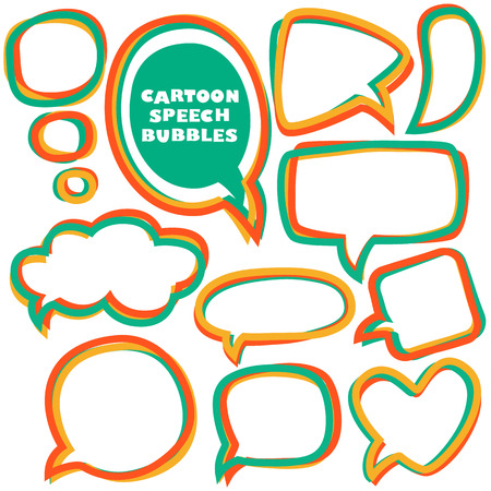 Cartoon speech bubbles.