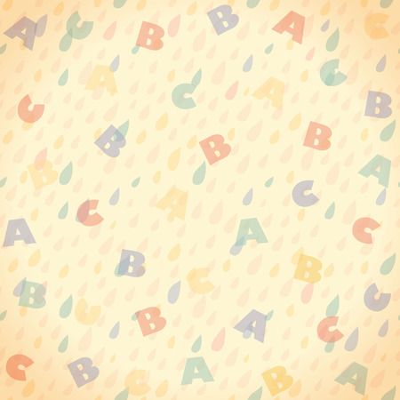 Letters seamless background. Vector