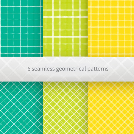 bedclothes: Set of geometrical seamless background.