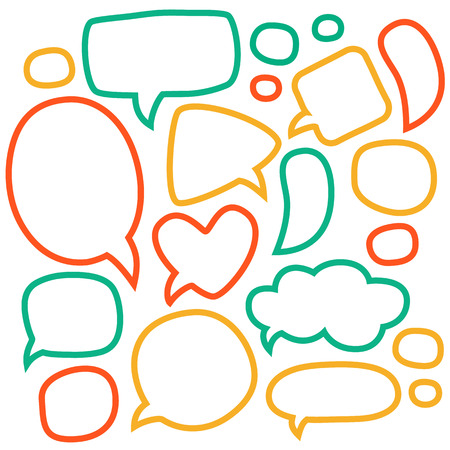 Cartoon speech bubbles.  Vector