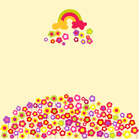 Flower rainbow background.  Vector