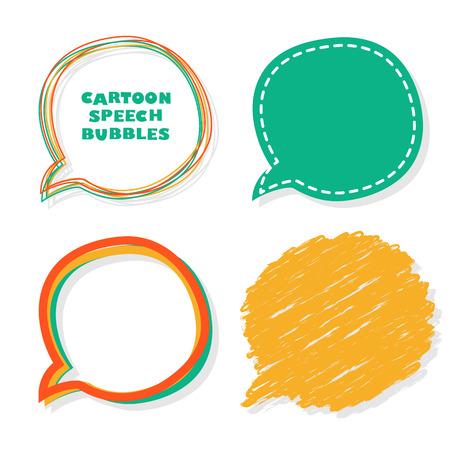 Cartoon speech bubbles.  Vector