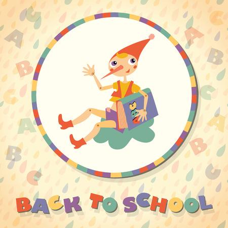 fairy story: Torna a scuola. Eroe della favola. Modello per la scheda.