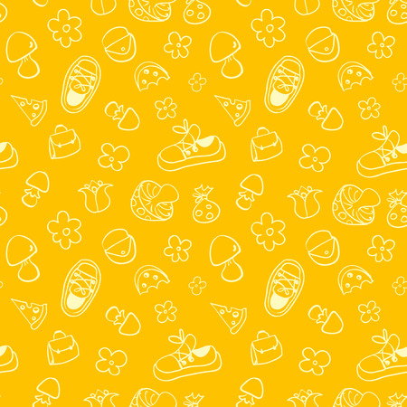 Seamless cute pattern for children. Seamless pattern can be used for wallpaper, pattern fills, web page background, surface textures Vector