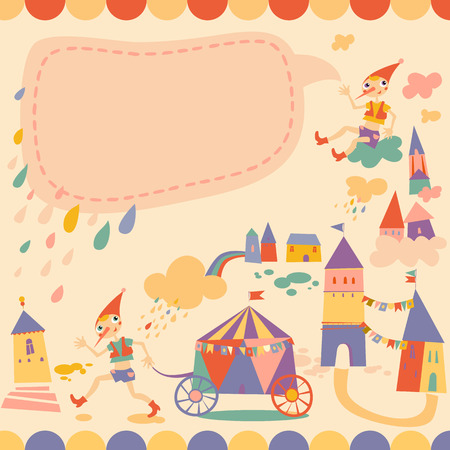pinocchio: Childrens background with place for text Illustration