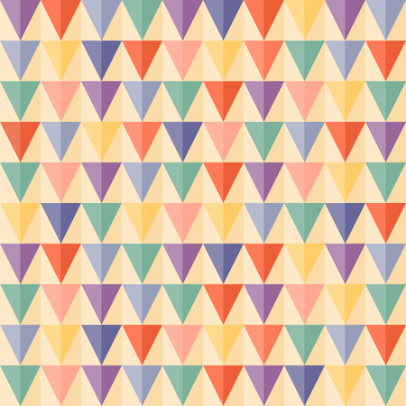 Abstract Triangle Geometrical seamless background  Vintage color  Seamless pattern can be used for wallpaper, pattern fills, web page background, surface textures Vector