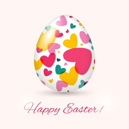 Easter Egg card  Vector illustration, can be used as creating card, wedding invitation, birthday, valentine Vector