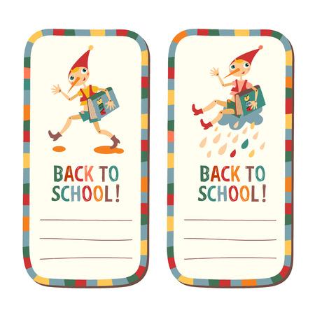 hand tag: Set of school children