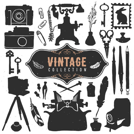 nib: Vintage retro old things collection.