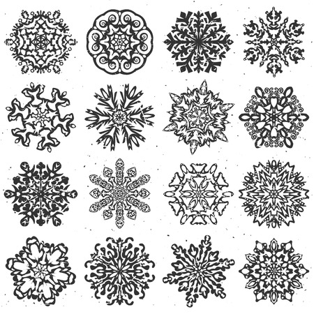 Snowflake hand drawn