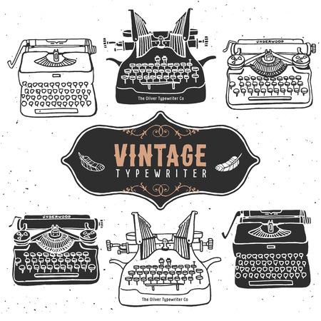 typewriter: Vintage retro old typewriter collection.