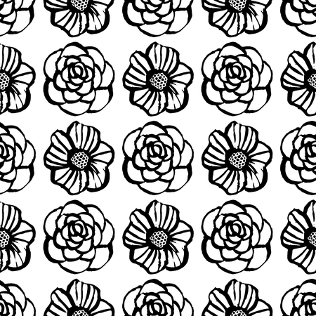 Botanical seamless pattern with flowers.