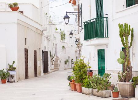 italy street: Lovely street, Monopoli, Italy