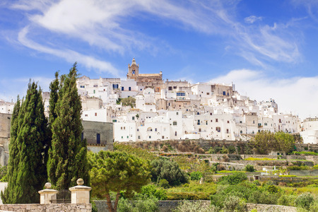 View of Ostuni. Puglia. Italy.