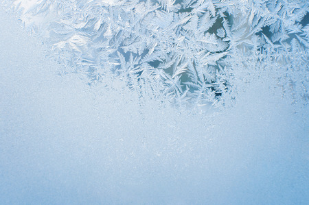 cold season: Winter background, frost on window