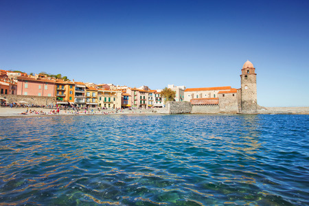 port vendres: Collioure, Mediterranean village in the South of France