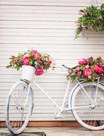 provence: Old decorated bicycle