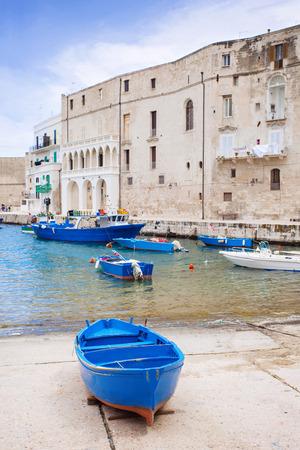 Boats at old harbor, Monopoli, Italy photo
