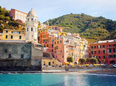 vernazza: Vernazza village, Ligurian coast, Italy