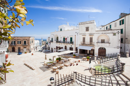 Panoramic view of Ostuni. Italy