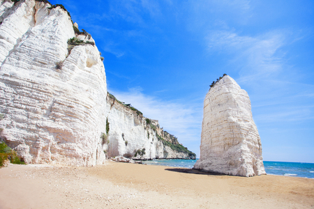 White rocks in Vieste, Italy