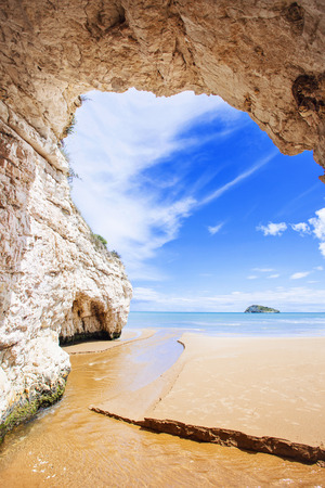 Inside view of cave, Italy Stock Photo