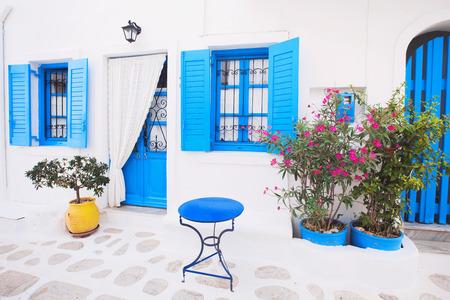 Traditional greek house facade, Greece