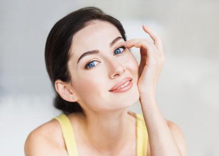 美しい若い女性の肖像画 写真素材